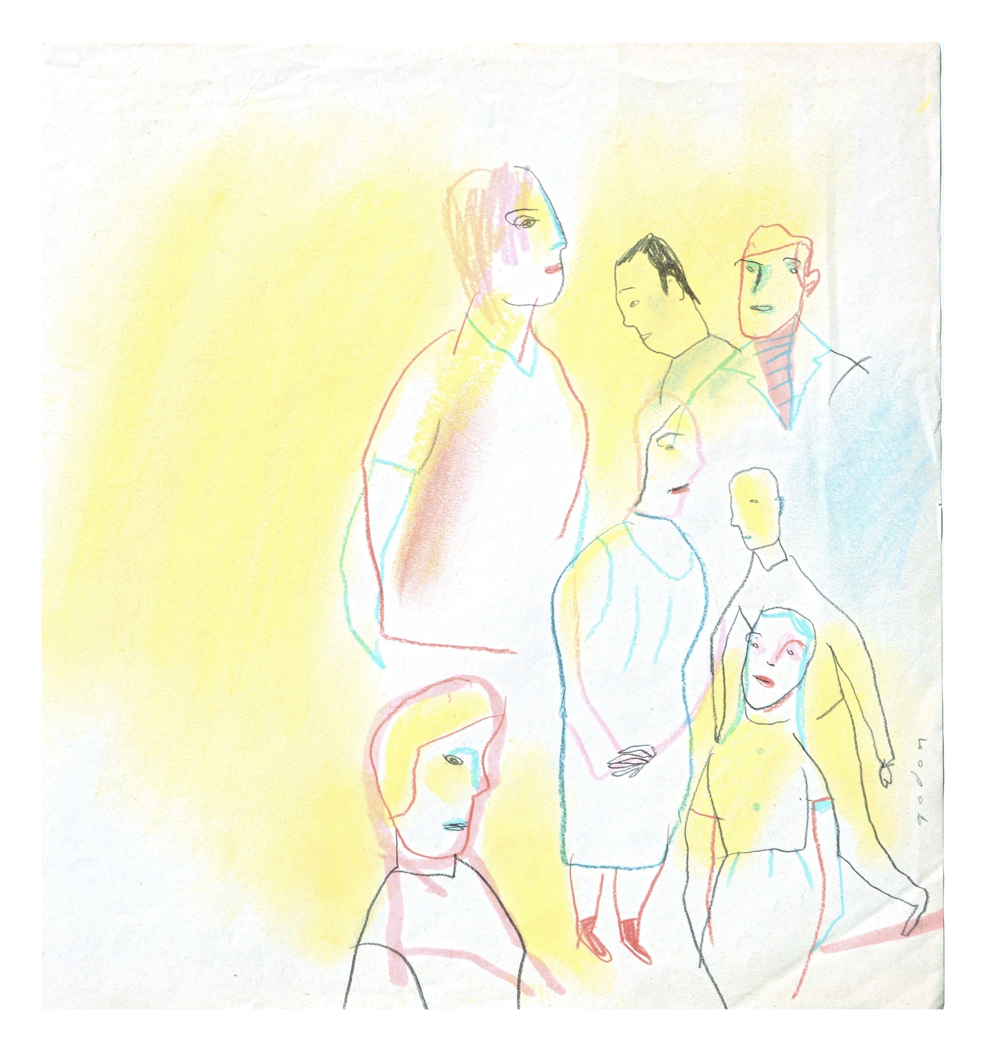 De wereld, origineel werk van Ingrid Godon bij online galerij ViViD Illustrations